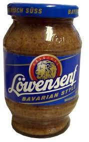 lowensenf mustard lowensenf bavarian style sweet mustard 10 2 oz 290g jar