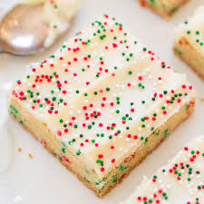 holiday sugar cookie bars with cream cheese frosting best sugar