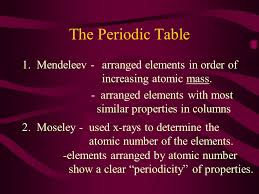 How Does The Modern Periodic Table Arrange Elements The Periodic Table Of Elements Is Arranged By The Number Of