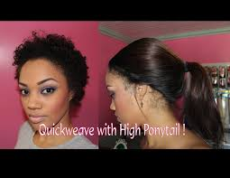 weave on how to weave with high ponytail on hair weaves