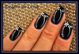 white flower nail art designs