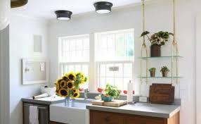 Kitchen Lighting Flush Mount Semi Flush Mount Overhead Kitchen Lighting With Pendant Lights