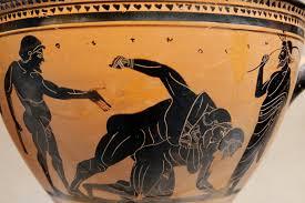 Greek Black Figure Vase Painting File Pankration Met 06 1021 49 Jpg Wikimedia Commons