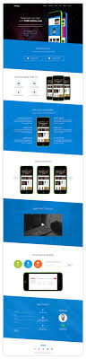 single page brochure templates psd one page app landing free psd template psdfreebies