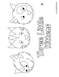 three little kittens coloring pages hellokids com