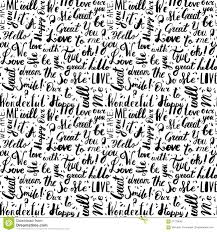 pattern design words handwritten vintage ink words vector seamless pattern with drops