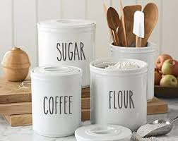 ceramic kitchen canister kitchen canisters etsy