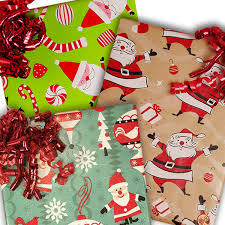 reversible christmas wrapping paper santa christmas wrapping paper