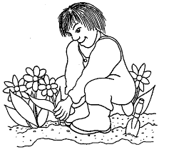 men flower garden coloring pages kids gh printable