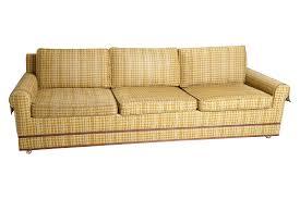 Yellow Sleeper Sofa Mid Century Yellow Plaid Sleeper Sofa Including Wondrous Of