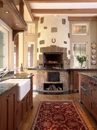 kitchen fireplace design ideas kitchen fireplace design home array