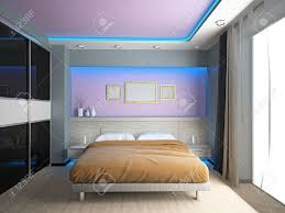modern interior of a bedroom room 3d stock photo picture and