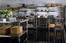 open shelving kitchen ideas 15 dramatic kitchen designs with stainless steel shelves rilane
