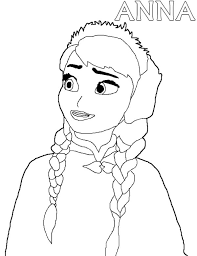 disney pixar frozen princess anna coloring pages disney pixar