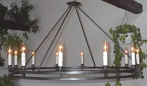 Iron Ring Chandelier Ace Wrought Iron Custom Ring Chandeliers Forged By