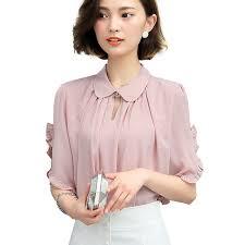 blouse ruffles pink blouse white ruffle blouses shirt plus size clothing