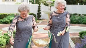 flower girl wedding these adorable grandmothers are flower at wedding