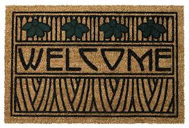 Welcome Doormats Dard Hunter Iris Welcome Doormat Craftsman Doormats By