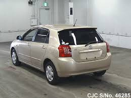 gold color cars 2003 toyota corolla runx gold for sale stock no 46285