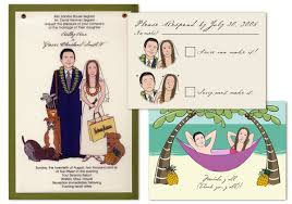 wedding invitations philippines wedding philippines caricature or photo illustration wedding