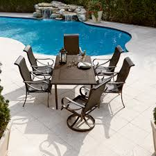 7pc Patio Dining Set - grand resort aspen 7pc aluminum and wicker dining set with