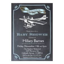 Vintage Airplane Nursery Decor Airplane Baby Shower Invitations U0026 Announcements Zazzle