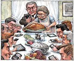 how about some parodies of norman rockwell s thanksgiving painting