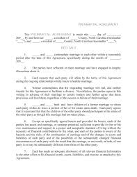 Post Marital Agreement Template 31 Free Prenuptial Agreement Samples Forms Free Template Downloads