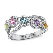 rings zirconia images Mother 39 s simulated birthstone and cubic zirconia frame crossover jpg