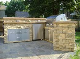 fabulus cream accent for outdoor kitchen ideas with great brick