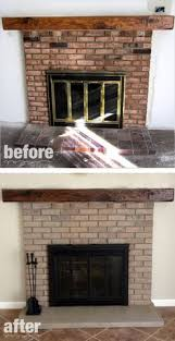 Whitewashing A Fireplace by Use Her Recipe Of 1 2 Water 1 4 White 1 4 Beige To Give It A Tan