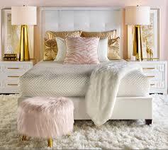 gold bedroom furniture quarto charmoso dando grande atenção ao puff rose decoração gold