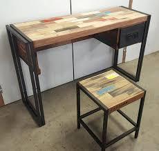 vieux bureau en bois console bureau bois amazing tables 10 design m233tal 3