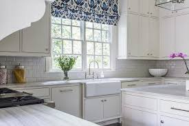 what shade of white for kitchen cabinets blue ikat roman shade transitional kitchen
