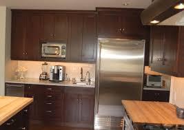 dark shaker kitchen cabinets simple brown color cherry wood shaker kitchen cabinets featuring