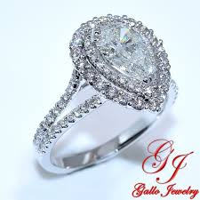 diamond double rings images Eng01233b double halo pear shape diamond engagement ring including jpg