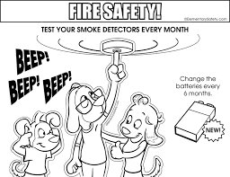 coloring fire safety