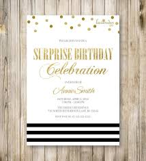 colors black and gold 50th birthday party invitations also red