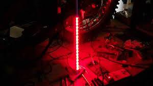 Solar Powered Lights For Flagpoles Flagpole Flashing Led With Light Off Youtube