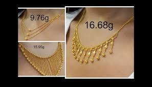 light weight gold necklace designs designer light weight gold necklaces jewelry nook