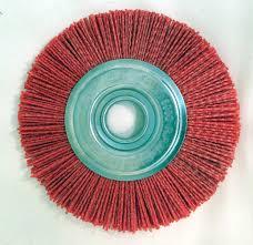 abrasive nylon bristle brushes buffing wheels polishing