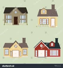 abstract cute houses on light green stock vector 227931730