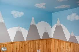 diy mountain walls the rustic willow diy mountain wall with cloud tutorial