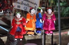 puppets for sale puppets for sale at luang prabang laos market stock photo image
