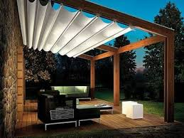 exterior white canvas shade wooden roofing for pergola covers