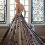 sareh nouri spring 2016 bridal mona lisa black wedding dress ball