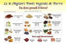 alimentazione ferro basso carenza di ferro cosa mangiare e rimedi per ferro basso