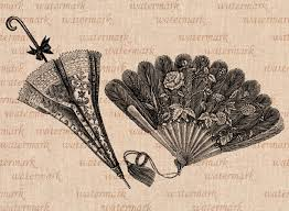 Victorian Time by Hand Fan And Sun Umbrella Victorian Time Digital Image