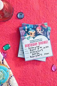 genie birthday party invitations nickelodeon parents