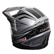 ls2 motocross helmet clearance sale ls2 mx453 dual gears helmet black silver